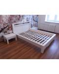 Кровать полуторная Фьорд 140х190 (белый воск)