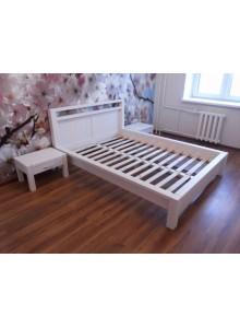 Кровать двуспальная Фьорд 160х200 (белый воск)