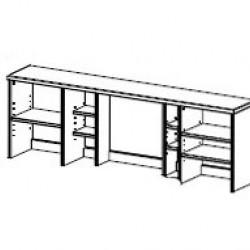 Надстройка стола двухтумбового Фьорд (белый воск)