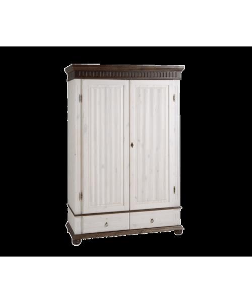 Шкаф двухстворчатый Хельсинки 2 M (белый воск + колониал)