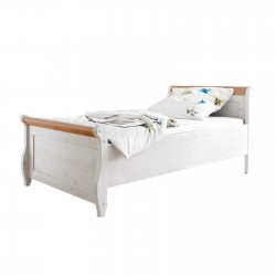 Кровать Мальта 100 (белый воск + антик)