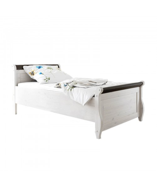Кровать Мальта 100 (белый воск + колониал)