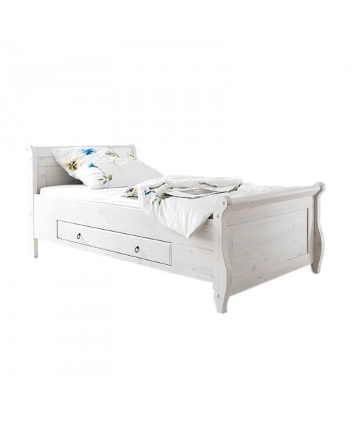 Кровать Мальта 100 с ящиками, (белый воск)