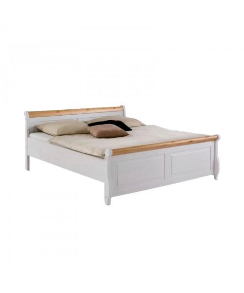 Кровать двуспальная Мальта 160 (белый воск + антик)