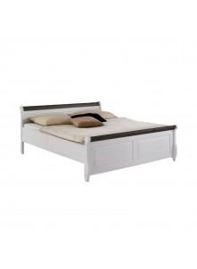 Кровать двуспальная Мальта 160 (белый воск + колониал)