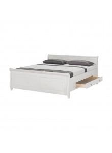 Кровать двуспальная Мальта 160 с ящиками (белый воск)