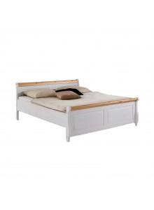 Кровать двуспальная Мальта 200 (белый воск + антик)