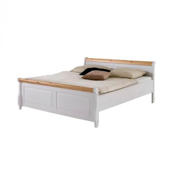Кровать двуспальная Мальта 180 (белый воск + антик)
