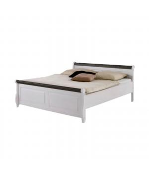 Кровать двуспальная Мальта 180 (белый воск + колониал)
