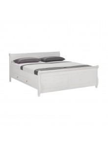 Кровать двуспальная Мальта 180 с ящиками (белый воск)