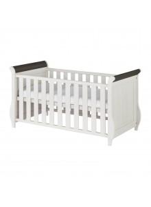 Кровать детская Хельсинки Бейби, (белый воск + колониал)