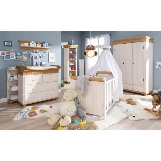 Кровать детская Хельсинки Бейби, (белый воск)