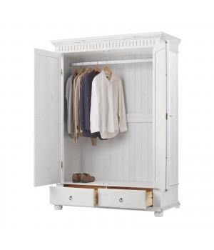 Шкаф двухстворчатый Хельсинки 2 (белый воск)
