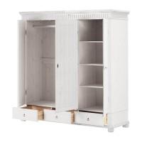 Шкаф трёхстворчатый Хельсинки 3 M (белый воск)