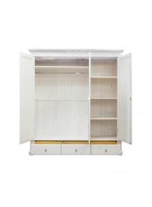 Шкаф трёхстворчатый Хельсинки 3 SPM с зеркалом (белый воск)
